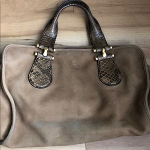 Authentic Tan/Brown Suede Gucci Bag